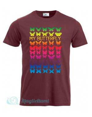 Magliettami T-shirt butterfly bordeaux