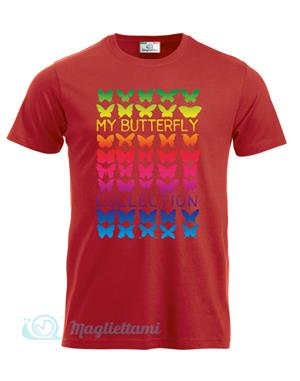 Magliettami T-shirt butterfly rosso