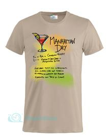 Magliettami T-shirt Cocktail Manhattan Kaki