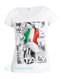 Magliettami T-shirt Made in Italybianco donna