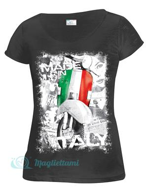 Magliettami T-shirt Made in Italy nero donna