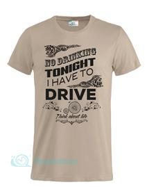 Magliettami T-shirt No Drink kaki
